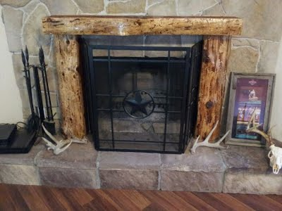 Customer S Fireplace Mantels Ridge Runner Logging Amp Mill